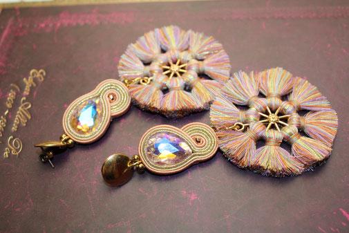 Soutache-Halskette Aprodite by Kinari Handmade Jewellery