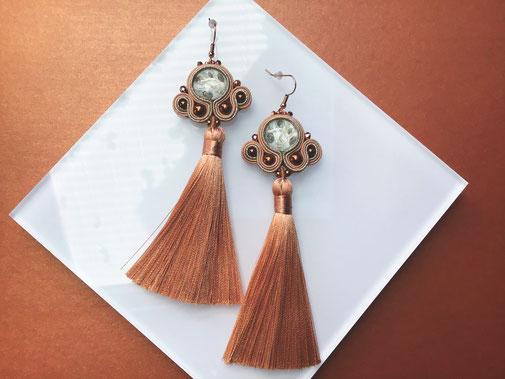 Soutache Schmuck Ohrringe Reena by Kinari Handmade Jewellery Statementschmuck Designer