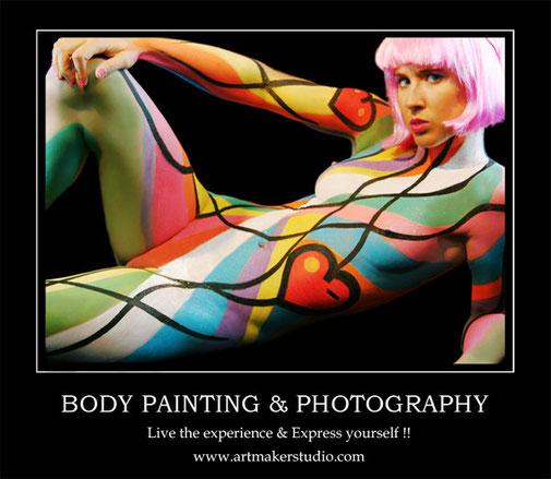 Body Painting & Photography - Maquillaje corporal y sesión de fotos para particulares