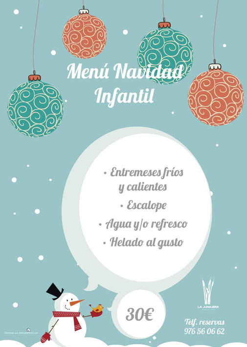 Menús de Navidad 2016 - La Junquera Ocio