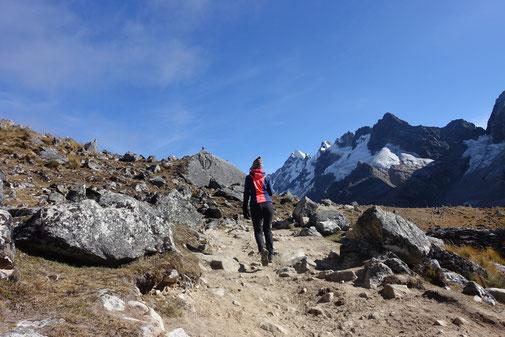 Salkantay trek descente du col