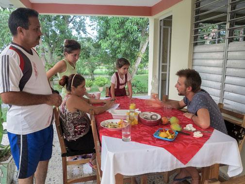 Discussion avec la famille