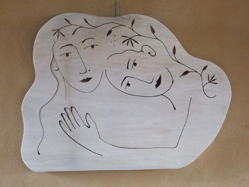 Mère et fille. Platane. 2017. 500€