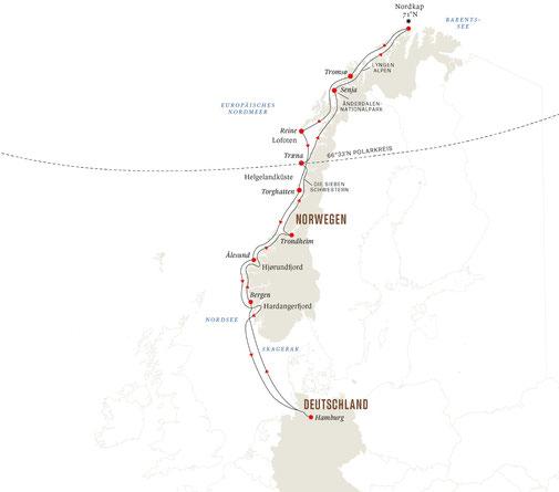 Hurtigruten ab Hamburg