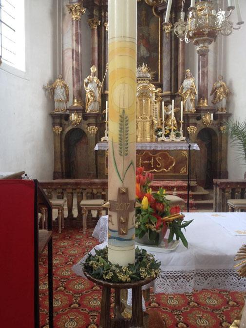 handbemalte Kirchenkerze