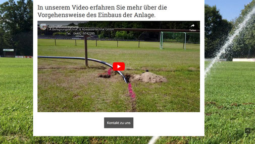 Website mit vielen Funktionen wie Video, Live-Chat, Google maps usw.