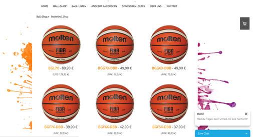 Online Shop Erstellung mit Logos.de, Paketpreise bei ball.kaufen