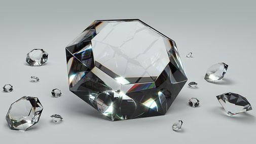 Diamanten funkeln - kann das zu teuer sein - den Preis kann man immer Verhandeln