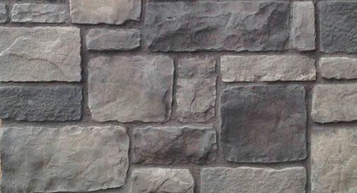 Burgstein Wandverblender für rustikale Stein- Mauerverkleidungen