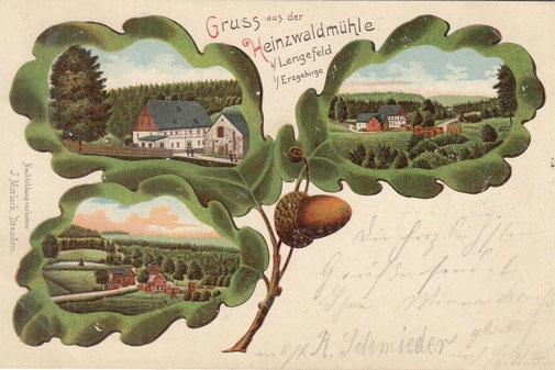 Bild: Wünschendorf Buschmühle Postkarte 1900