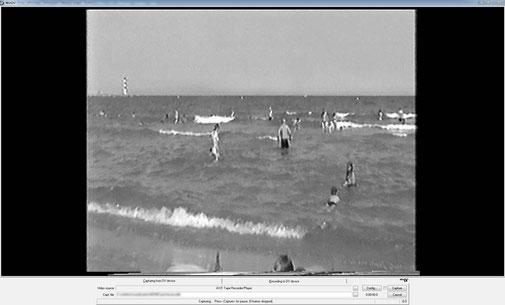 Capture vidéo en noir et blanc