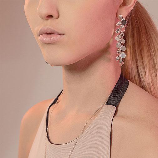 Lange Ohrringe aus Silber