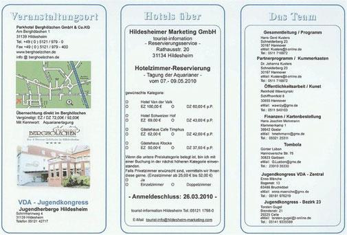 VdA Hildesheim 2010 Programm