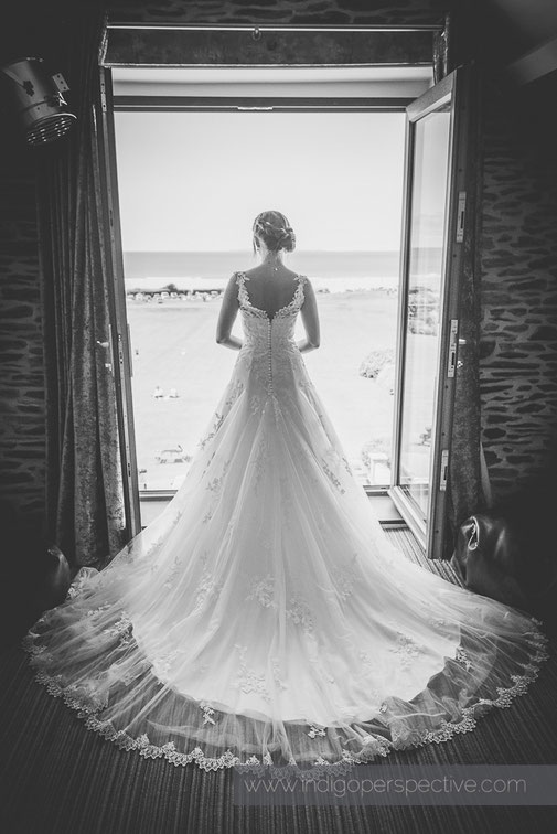 woolacombe bay hotel wedding dress bride
