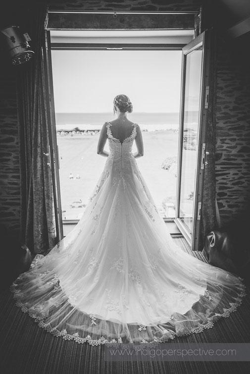 woolacombe bay hotel wedding dress bride