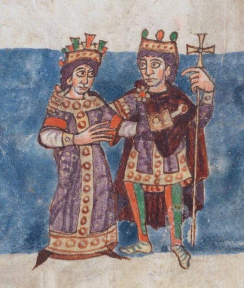 Königspaar aus dem Stuttgarter Psalter