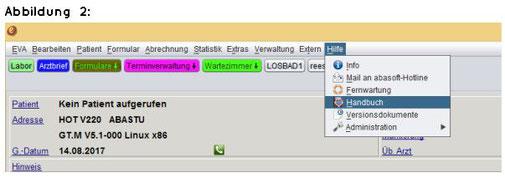 abasoft EVA Praxissoftware Versionsdokumente und EVA-Handbuch
