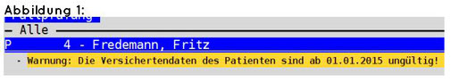abasoft EVA Praxissoftware Arztsoftware Versichertennummer Quartalsabrechnung Fehlermeldung