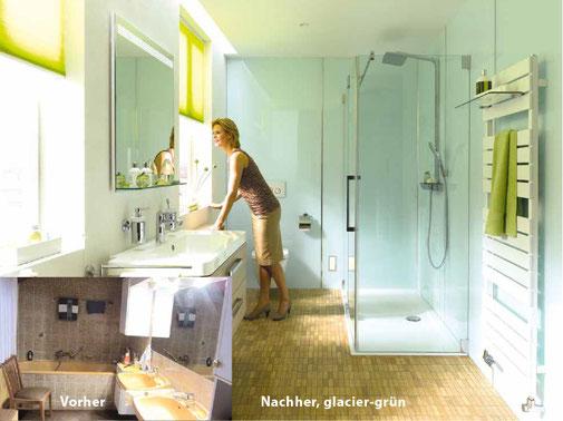 Fugenlose Wandverkleidung Bad Teilsanierung Mit System