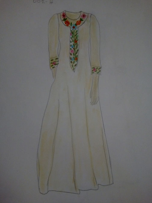 Robe longue Frida