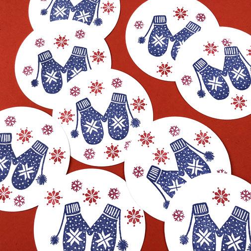 Perlenfischer Stempel Rubber Stamps Štampiljka Žig XMAS Christmas Decoration