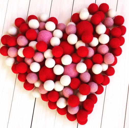 kroglice iz filca filc ljubezen love