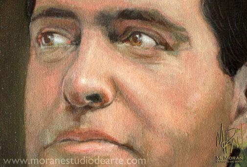 Alfredo Castillo CONADE Retrato al oleo