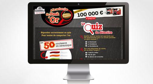 LSZ Communication - Graphiste - Directrice artistique freelance Nantes - #lepetitoiseaudelacom - Charal - Alimentaire - Quizz - Jeu web - Steak d'or - Agence Madame Columbo
