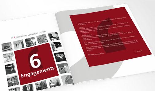 LSZ Communication - Graphiste - Directrice artistique freelance Nantes - #lepetitoiseaudelacom - Meurthe & Moselle Habitat - MMH - Immobilier - 6 engagements - Plaquette - dépliant