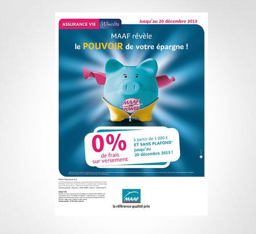 LSZ Communication - Graphiste - Directrice artistique freelance Nantes - #lepetitoiseaudelacom - Maaf - Assurance Vie - Opération Réactivation - Affiche - Lettre - Agence Caribou