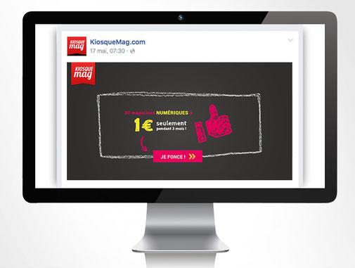 LSZ Communication - Graphiste - Directrice artistique freelance Nantes - #lepetitoiseaudelacom - Kiosquemag - Abonnement magazines - Rentrée - Emailing - Agence BY M