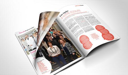 LSZ Communication - Graphiste - Directrice artistique freelance Nantes - #Lepetitoiseaudelacom - Laboratoire Rivadis - Cosmétique - Rivadis Mag N°2 - Magazine