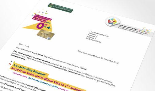 LSZ Communication - Graphiste - Directrice artistique freelance Nantes - #lepetitoiseaudelacom - Groupama - Banque - Assurance - Anniversaire 10 ans - Lettre - Agence Caribou