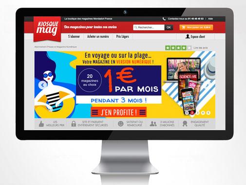 LSZ Communication - Graphiste - Directrice artistique freelance Nantes - #lepetitoiseaudelacom - Kiosquemag - Abonnement magazines - été 2017 - Bannière - Agence BY M