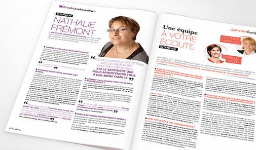 LSZ Communication - Graphiste - Directrice artistique freelance Nantes - #Lepetitoiseaudelacom - Laboratoire Rivadis - Cosmétique - Rivadis Mag N°1 - Magazine