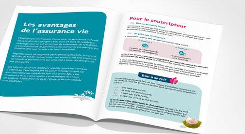LSZ Communication - Graphiste - Directrice artistique freelance Nantes - #lepetitoiseaudelacom - Maaf - Opération Etrenne - Dépliant - Agence Caribou