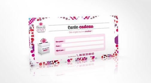 LSZ Communication - Graphiste - Directrice artistique freelance Nantes - #lepetitoiseaudelacom - BEAUTE D'IVIN - Prothésiste ongulaire - Extension de cils - ONGLERIE - QUIMPER - Carte cadeau