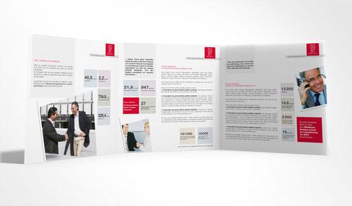 LSZ Communication - Graphiste - Directrice artistique freelance Nantes - #lepetitoiseaudelacom - Société générale Luxembourg - Banque - Plaquette entreprise
