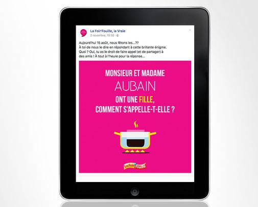 LSZ Communication - Graphiste - Directrice artistique freelance Nantes - #lepetitoiseaudelacom - FOIR'FOUILLE - Post Facebook - Agence Caribou