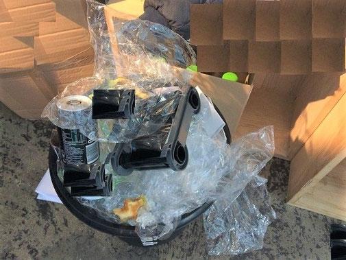 Affaldsstativ / affaldssorteringssysten til køkken eller kontor- til kamp mod plastik affald!