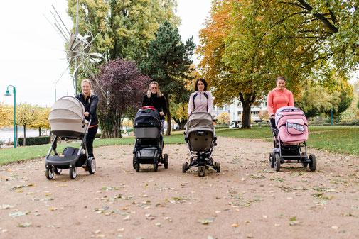 Mütter mit Kinderwagen in Beuel