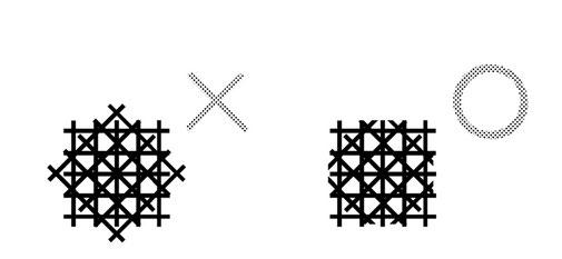 3かけ、4かけの線は 「1かけ」のときの正方形からはハミ出さない!