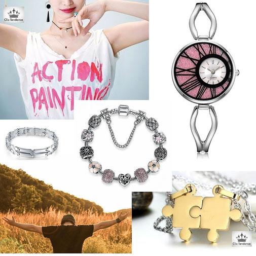 Boutique en ligne d'accessoires de mode, montre et bijoux fantaisie pas cher