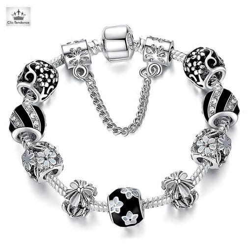 bracelet femme charms pandora cadeau personnalisable pas cher
