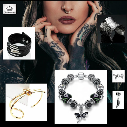 les bracelets tendance et fantaisie pour femme jonc et manchette