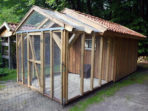 Hühnerstall - Entworfen und erbaut im Rahmen eines Beratungsgespräches 2016