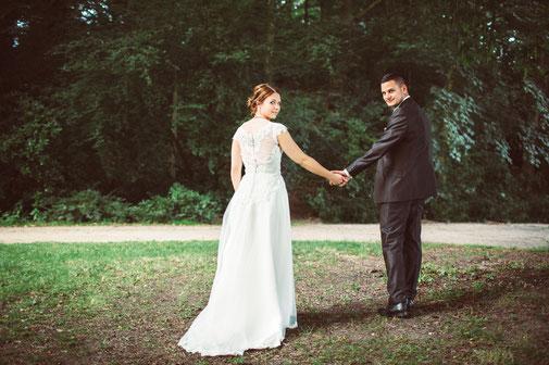 Brautkleid mit Knopfleiste