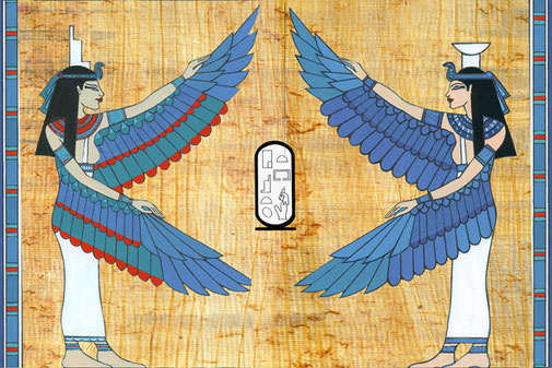 Egyptian Goddesses introducing meditation techniques