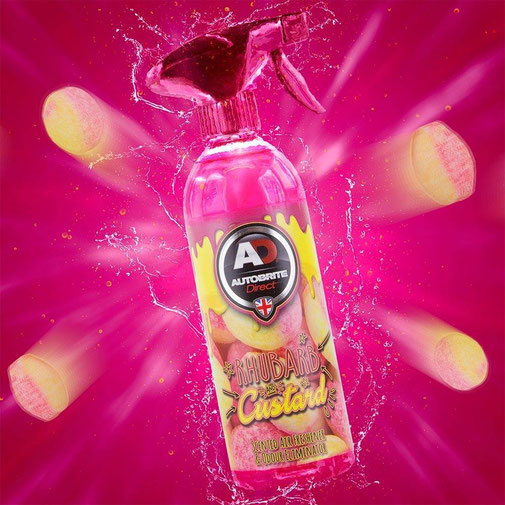 AUTOBRITE - RHUBARB AND CUSTARD SCENT 500ML REFRESHER