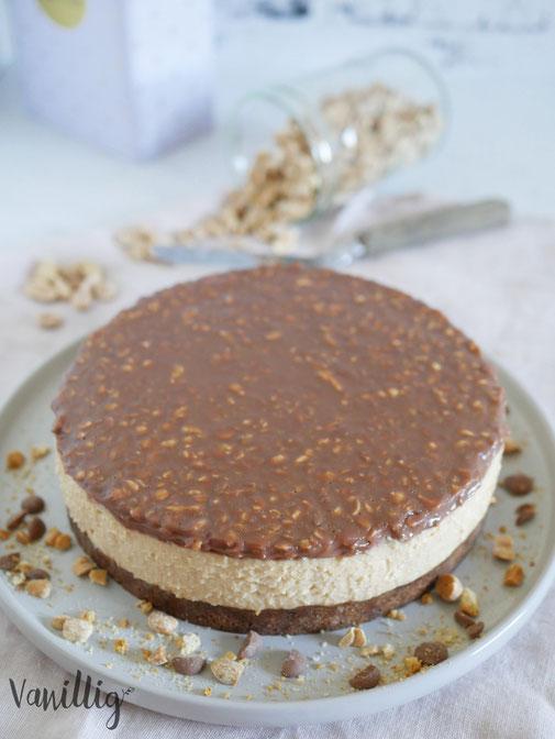 Erdnussbutter Cheesecake ohne Backen